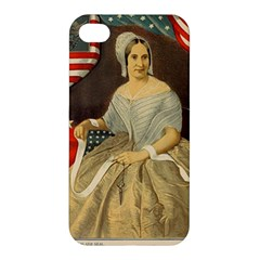 Betsy Ross Author Of The First American Flag And Seal Patriotic Usa Vintage Portrait Apple Iphone 4/4s Hardshell Case by yoursparklingshop