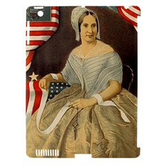 Betsy Ross Author Of The First American Flag And Seal Patriotic Usa Vintage Portrait Apple Ipad 3/4 Hardshell Case (compatible With Smart Cover) by yoursparklingshop
