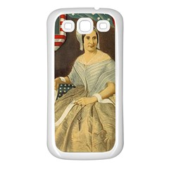 Betsy Ross Author Of The First American Flag And Seal Patriotic Usa Vintage Portrait Samsung Galaxy S3 Back Case (white) by yoursparklingshop