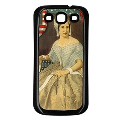 Betsy Ross Author Of The First American Flag And Seal Patriotic Usa Vintage Portrait Samsung Galaxy S3 Back Case (black) by yoursparklingshop