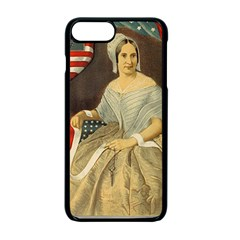 Betsy Ross Author Of The First American Flag And Seal Patriotic Usa Vintage Portrait Apple Iphone 7 Plus Seamless Case (black) by yoursparklingshop