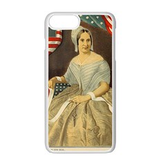 Betsy Ross Author of The First American Flag and Seal Patriotic USA Vintage Portrait Apple iPhone 7 Plus White Seamless Case by yoursparklingshop