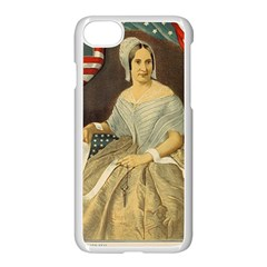 Betsy Ross Author of The First American Flag and Seal Patriotic USA Vintage Portrait Apple iPhone 7 Seamless Case (White) by yoursparklingshop