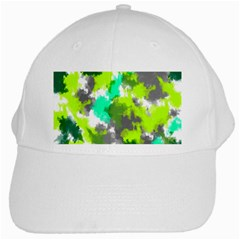 Abstract Watercolor Background Wallpaper Of Watercolor Splashes Green Hues White Cap by Nexatart