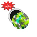 Abstract Watercolor Background Wallpaper Of Watercolor Splashes Green Hues 1.75  Magnets (10 pack)  Front