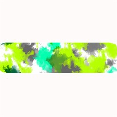Abstract Watercolor Background Wallpaper Of Watercolor Splashes Green Hues Large Bar Mats by Nexatart