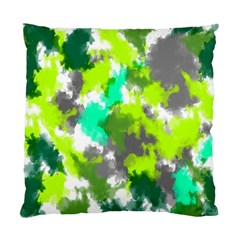 Abstract Watercolor Background Wallpaper Of Watercolor Splashes Green Hues Standard Cushion Case (one Side) by Nexatart