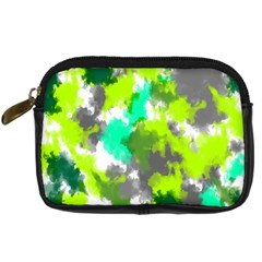 Abstract Watercolor Background Wallpaper Of Watercolor Splashes Green Hues Digital Camera Cases by Nexatart