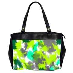 Abstract Watercolor Background Wallpaper Of Watercolor Splashes Green Hues Office Handbags (2 Sides)  by Nexatart