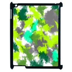 Abstract Watercolor Background Wallpaper Of Watercolor Splashes Green Hues Apple Ipad 2 Case (black)