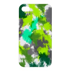 Abstract Watercolor Background Wallpaper Of Watercolor Splashes Green Hues Apple Iphone 4/4s Premium Hardshell Case