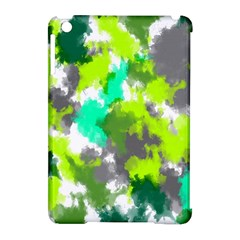 Abstract Watercolor Background Wallpaper Of Watercolor Splashes Green Hues Apple Ipad Mini Hardshell Case (compatible With Smart Cover) by Nexatart