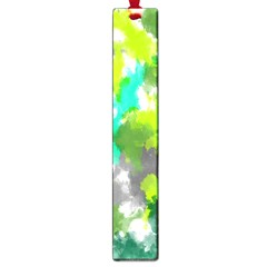 Abstract Watercolor Background Wallpaper Of Watercolor Splashes Green Hues Large Book Marks by Nexatart