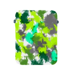 Abstract Watercolor Background Wallpaper Of Watercolor Splashes Green Hues Apple Ipad 2/3/4 Protective Soft Cases