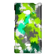 Abstract Watercolor Background Wallpaper Of Watercolor Splashes Green Hues Nokia Lumia 720 by Nexatart