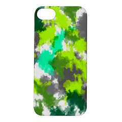 Abstract Watercolor Background Wallpaper Of Watercolor Splashes Green Hues Apple Iphone 5s/ Se Hardshell Case