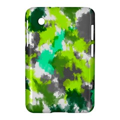Abstract Watercolor Background Wallpaper Of Watercolor Splashes Green Hues Samsung Galaxy Tab 2 (7 ) P3100 Hardshell Case