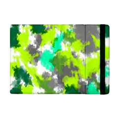 Abstract Watercolor Background Wallpaper Of Watercolor Splashes Green Hues Ipad Mini 2 Flip Cases by Nexatart