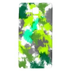Abstract Watercolor Background Wallpaper Of Watercolor Splashes Green Hues Galaxy Note 4 Back Case by Nexatart