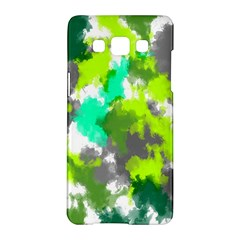 Abstract Watercolor Background Wallpaper Of Watercolor Splashes Green Hues Samsung Galaxy A5 Hardshell Case