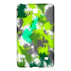 Abstract Watercolor Background Wallpaper Of Watercolor Splashes Green Hues Samsung Galaxy Tab 4 (8 ) Hardshell Case  by Nexatart