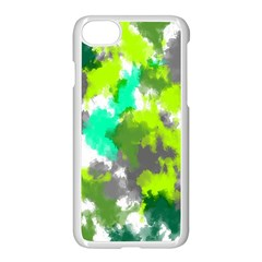 Abstract Watercolor Background Wallpaper Of Watercolor Splashes Green Hues Apple Iphone 7 Seamless Case (white) by Nexatart