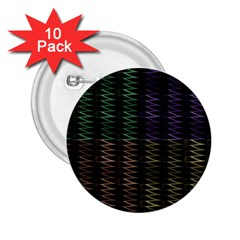 Multicolor Pattern Digital Computer Graphic 2 25  Buttons (10 Pack)