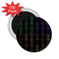 Multicolor Pattern Digital Computer Graphic 2 25  Magnets (100 Pack)