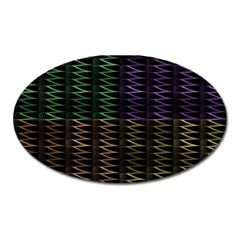 Multicolor Pattern Digital Computer Graphic Oval Magnet by Nexatart
