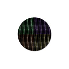 Multicolor Pattern Digital Computer Graphic Golf Ball Marker (10 Pack) by Nexatart