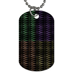Multicolor Pattern Digital Computer Graphic Dog Tag (two Sides) by Nexatart
