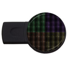 Multicolor Pattern Digital Computer Graphic Usb Flash Drive Round (4 Gb) by Nexatart