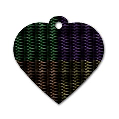 Multicolor Pattern Digital Computer Graphic Dog Tag Heart (one Side) by Nexatart