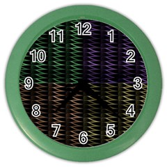 Multicolor Pattern Digital Computer Graphic Color Wall Clocks by Nexatart
