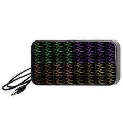 Multicolor Pattern Digital Computer Graphic Portable Speaker (black)