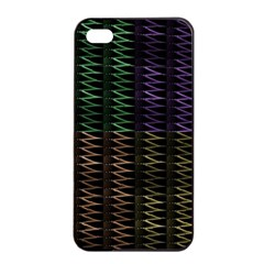 Multicolor Pattern Digital Computer Graphic Apple Iphone 4/4s Seamless Case (black)