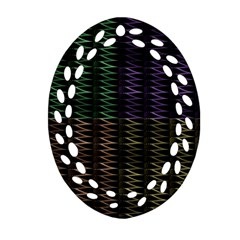 Multicolor Pattern Digital Computer Graphic Ornament (oval Filigree) by Nexatart