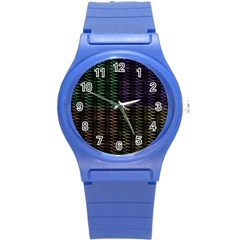 Multicolor Pattern Digital Computer Graphic Round Plastic Sport Watch (s)