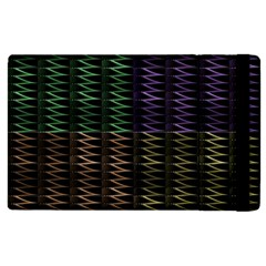 Multicolor Pattern Digital Computer Graphic Apple Ipad 2 Flip Case by Nexatart