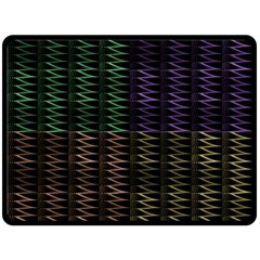 Multicolor Pattern Digital Computer Graphic Double Sided Fleece Blanket (large)