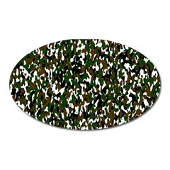 Camouflaged Seamless Pattern Abstract Oval Magnet by Nexatart
