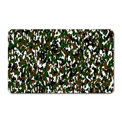Camouflaged Seamless Pattern Abstract Magnet (rectangular) by Nexatart