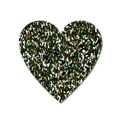 Camouflaged Seamless Pattern Abstract Heart Magnet by Nexatart