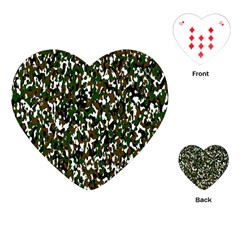 Camouflaged Seamless Pattern Abstract Playing Cards (heart)  by Nexatart