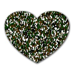 Camouflaged Seamless Pattern Abstract Heart Mousepads by Nexatart