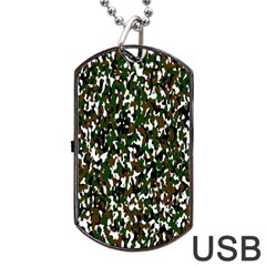 Camouflaged Seamless Pattern Abstract Dog Tag Usb Flash (two Sides)