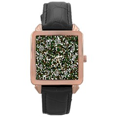 Camouflaged Seamless Pattern Abstract Rose Gold Leather Watch  by Nexatart