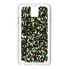 Camouflaged Seamless Pattern Abstract Samsung Galaxy Note 3 N9005 Case (white) by Nexatart