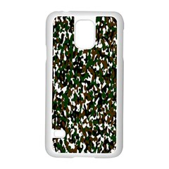 Camouflaged Seamless Pattern Abstract Samsung Galaxy S5 Case (white)