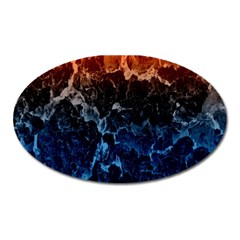 Abstract Background Oval Magnet by Nexatart